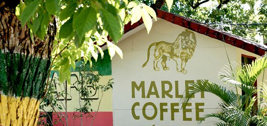 "Marley Coffee ""Drink withe respect – Ras-tafar-I"""